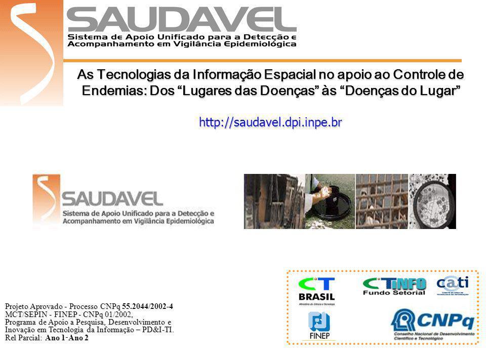 As Tecnologias da Informação Espacial no apoio ao Controle de Endemias: Dos Lugares das Doenças às Doenças do Lugar http://saudavel.dpi.inpe.br Projet