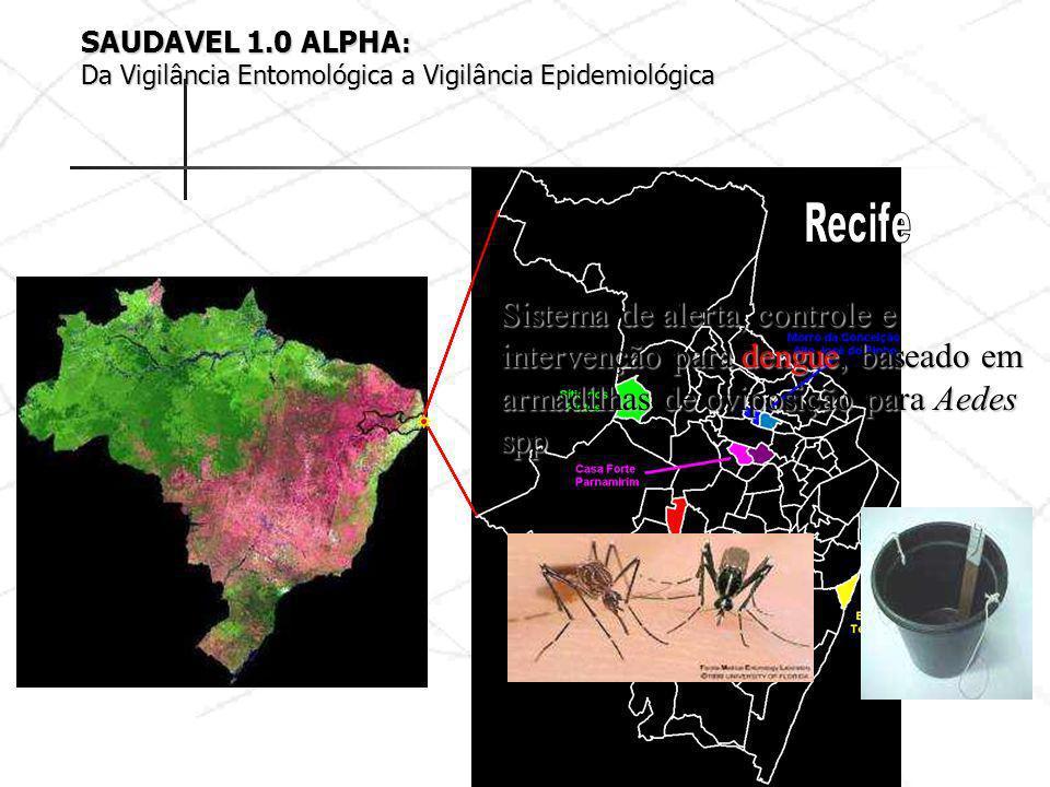Sistema de alerta, controle e intervenção para dengue, baseado em armadilhas de oviposição para Aedes spp SAUDAVEL 1.0 ALPHA : Da Vigilância Entomológ