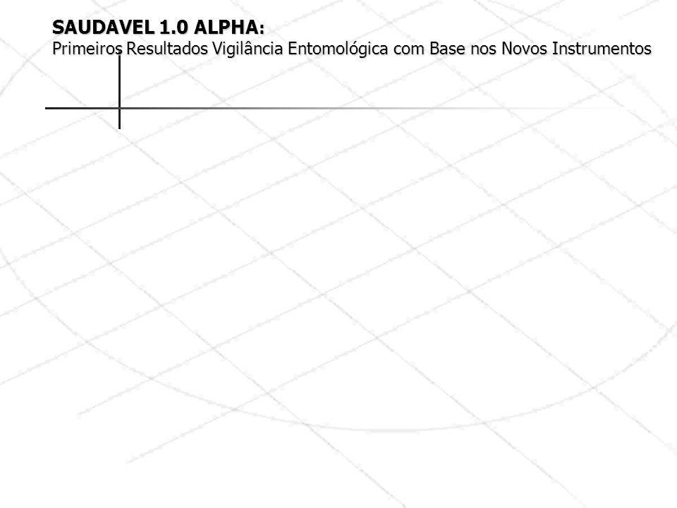 SAUDAVEL 1.0 ALPHA : Primeiros Resultados Vigilância Entomológica com Base nos Novos Instrumentos