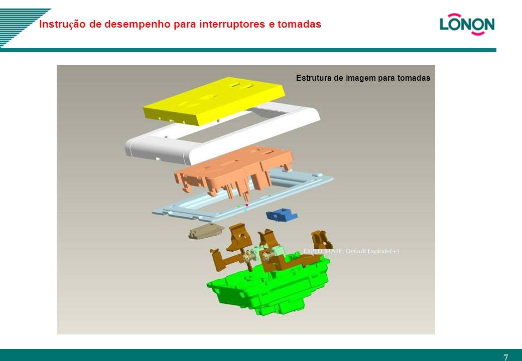 7 Estrutura de imagem para tomadas Instru ç ão de desempenho para interruptores e tomadas