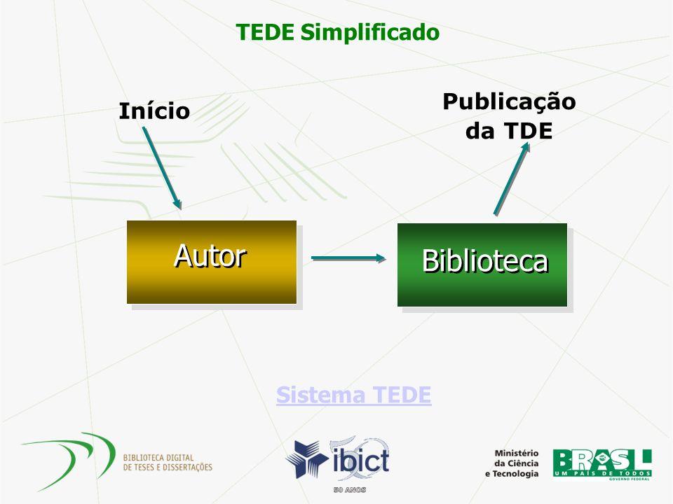 Início Publicação da TDE Autor Biblioteca Sistema TEDE TEDE Simplificado