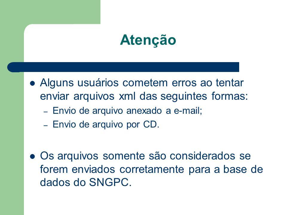Atenção Alguns usuários cometem erros ao tentar enviar arquivos xml das seguintes formas: – Envio de arquivo anexado a e-mail; – Envio de arquivo por