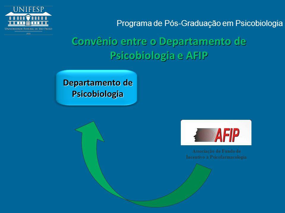 Convênio entre o Departamento de Psicobiologia e AFIP Departamento de Psicobiologia Programa de Pós-Graduação em Psicobiologia Associação de Fundo de