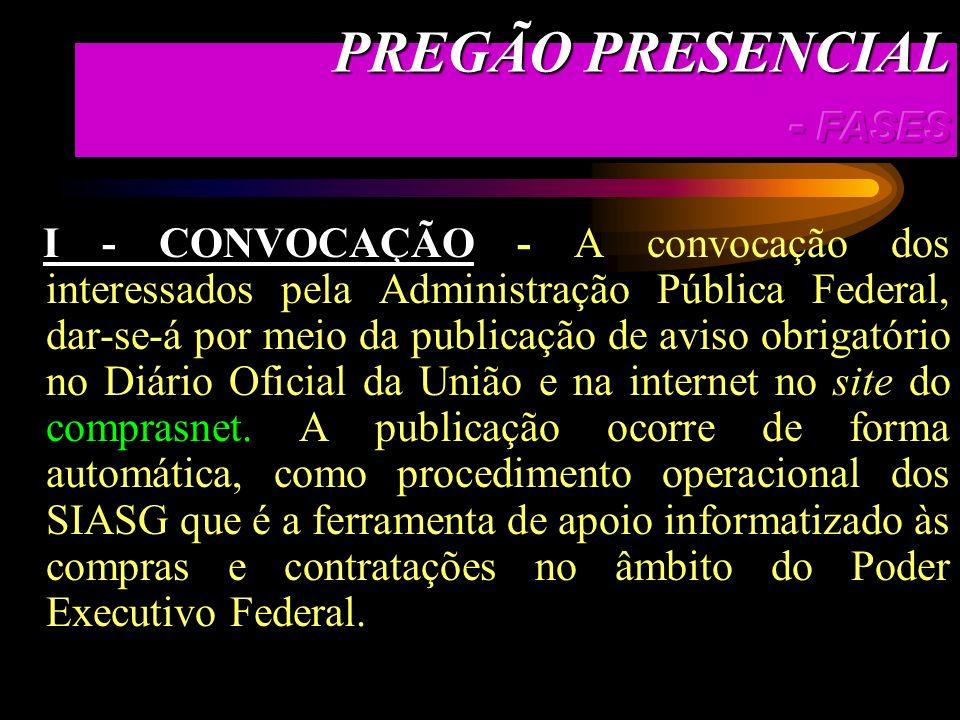 Pregão é a modalidade de licitação na qual a disputa pelo fornecimento de bens e serviços comuns é feita em sessões públicas caracterizadas essencialm