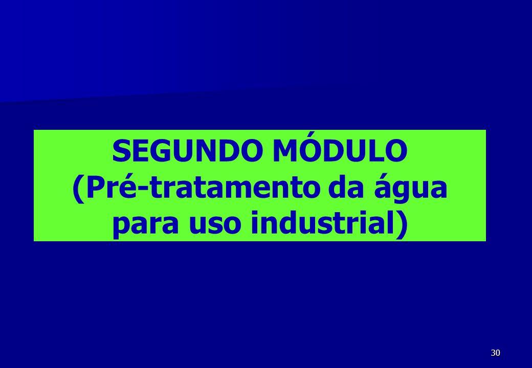 30 SEGUNDO MÓDULO (Pré-tratamento da água para uso industrial)