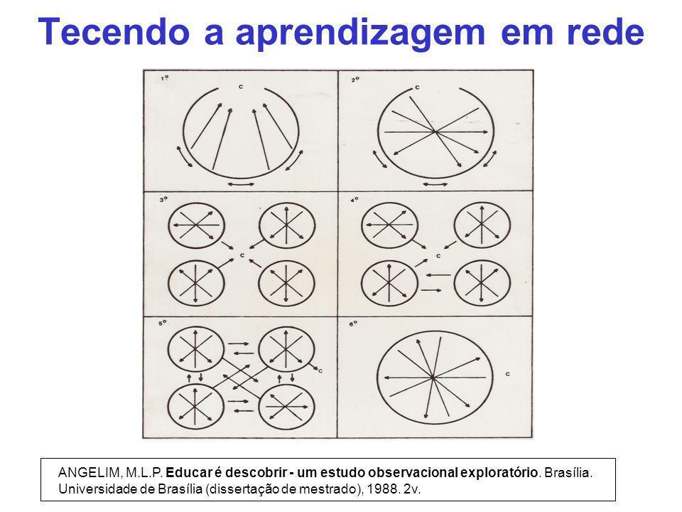 Tecendo a aprendizagem em rede ANGELIM, M.L.P. Educar é descobrir - um estudo observacional exploratório. Brasília. Universidade de Brasília (disserta