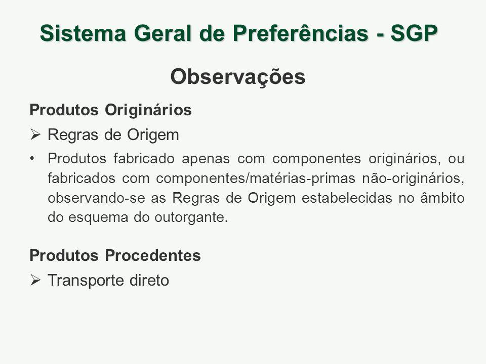Produtos Originários Regras de Origem Produtos fabricado apenas com componentes originários, ou fabricados com componentes/matérias-primas não-originá