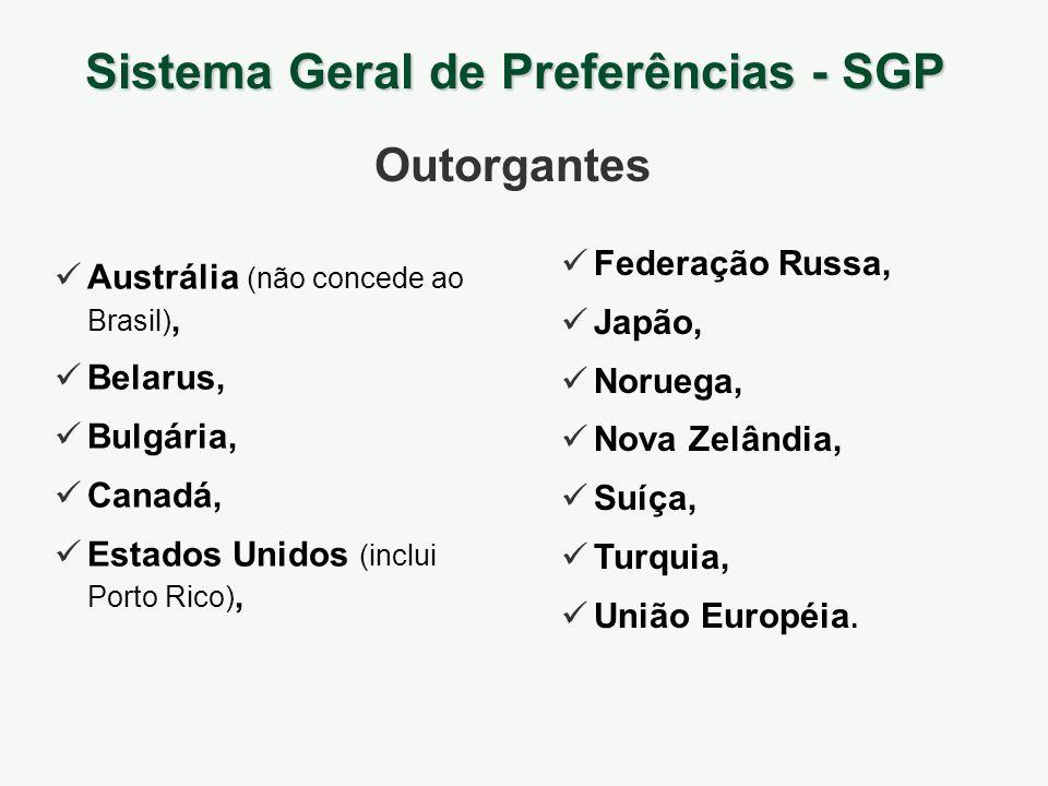 Austrália (não concede ao Brasil), Belarus, Bulgária, Canadá, Estados Unidos (inclui Porto Rico), Federação Russa, Japão, Noruega, Nova Zelândia, Suíç