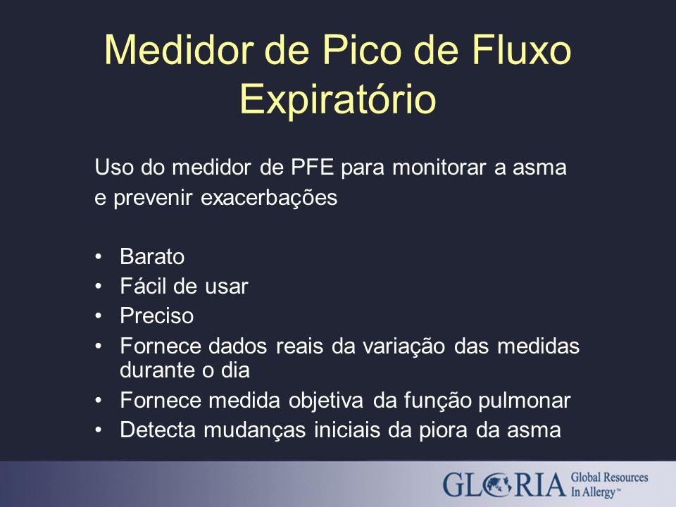 Medidor de Pico de Fluxo Expiratório Uso do medidor de PFE para monitorar a asma e prevenir exacerbações Barato Fácil de usar Preciso Fornece dados re
