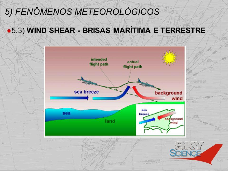 5) FENÔMENOS METEOROLÓGICOS 5.3) WIND SHEAR - BRISAS MARÍTIMA E TERRESTRE