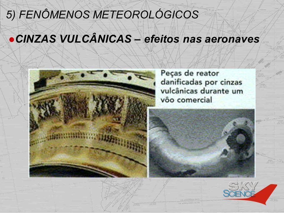 5) FENÔMENOS METEOROLÓGICOS CINZAS VULCÂNICAS – efeitos nas aeronaves