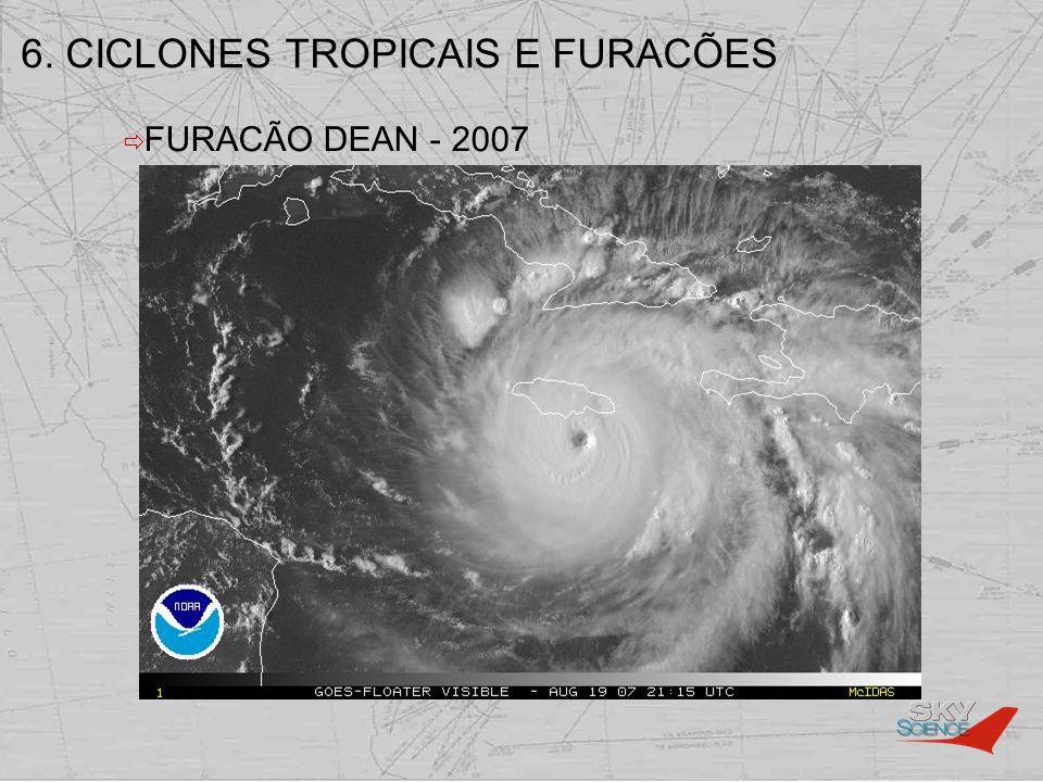 6. CICLONES TROPICAIS E FURACÕES FURACÃO DEAN - 2007