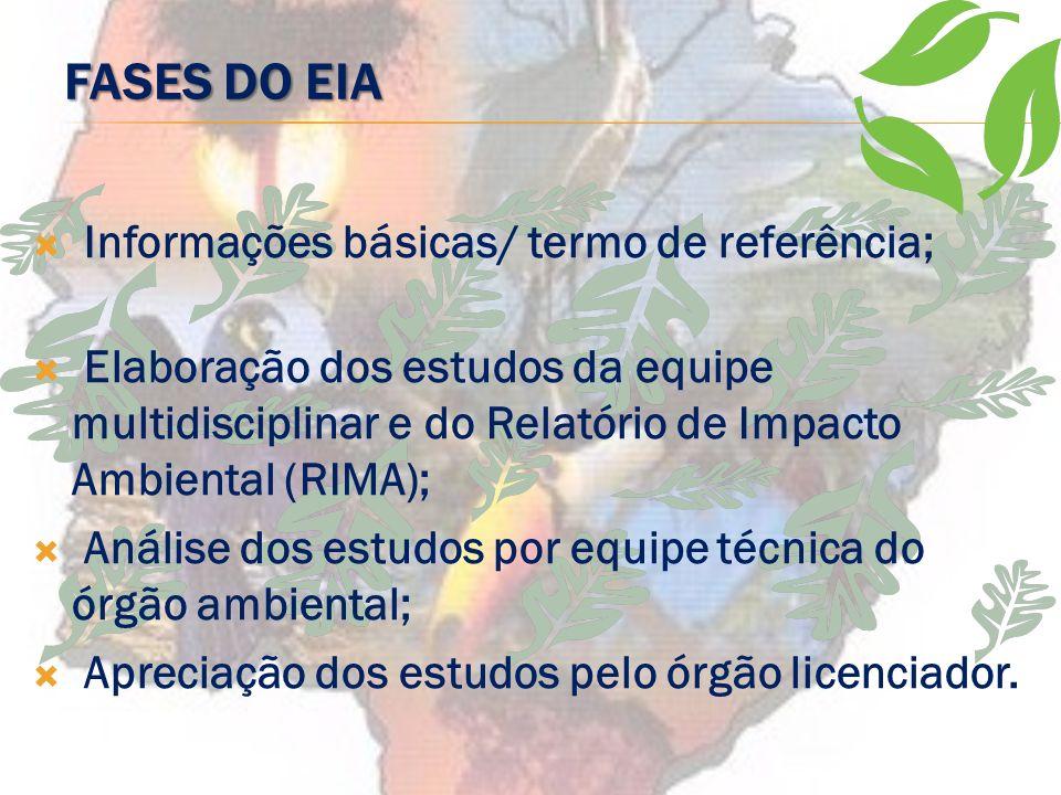 EXIGÊNCIA DO EIA/RIMA: ATO VINCULADO OU DISCRICIONÁRIO Resolução Conama 237/97 Art. 3°. A Licença Ambiental para empreendimentos e atividades consider