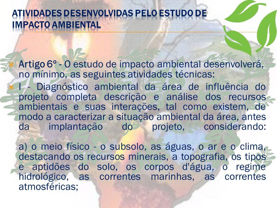 O Estudo de Impacto Ambiental (EIA) está inserido no gênero
