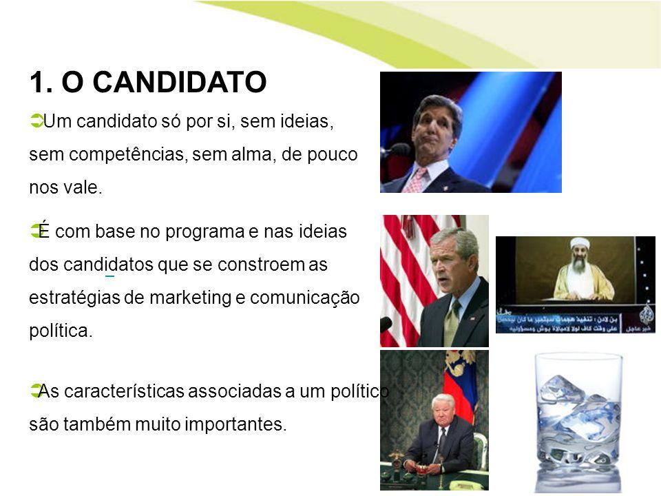 2.A EQUIPA A equipa deve espelhar o que é o candidato -» se a equipa é assim, imaginem o líder.