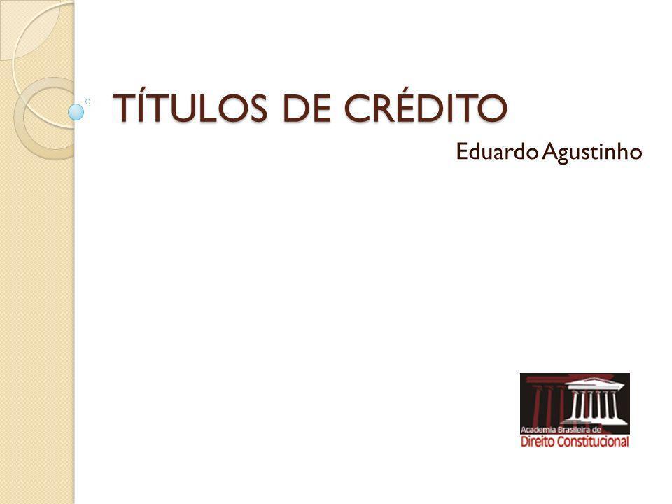 TÍTULOS DE CRÉDITO Regime Jurídico Dec.