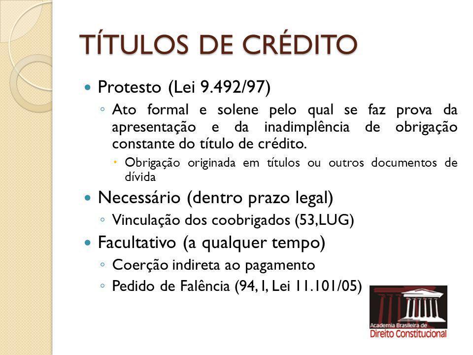 CHEQUE – Lei 7.357/85 Título Impróprio – ordem de pagamento à vista Emissão – ao portador – nominativo acima de R$ 100,00 (Art.