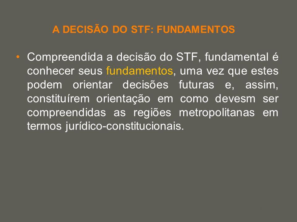 your name A DECISÃO DO STF: FUNDAMENTOS Compreendida a decisão do STF, fundamental é conhecer seus fundamentos, uma vez que estes podem orientar decis
