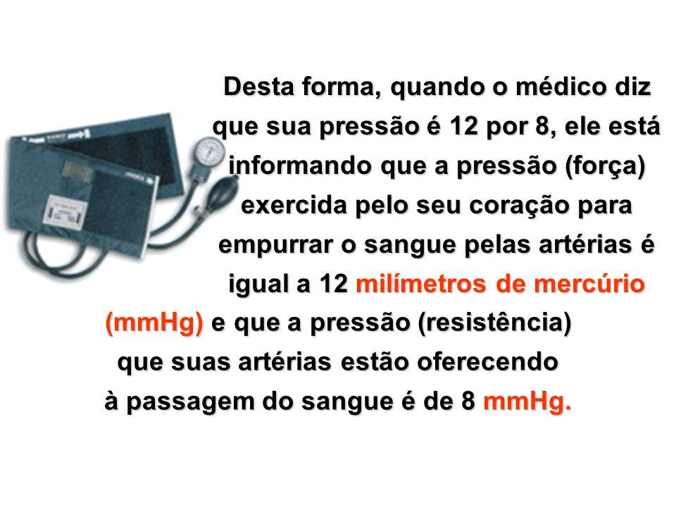 Copyright © RHVIDA S/C Ltda. www.rhvida.com.br A resistência que a artéria oferece à passagem do sangue é chamada de pressão mínima, ou diastólica.