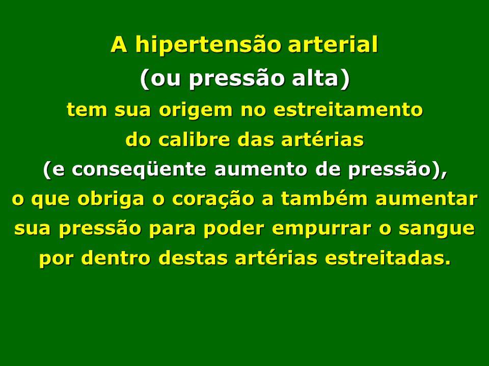 Quando o calibre da artéria fica reduzido aumenta a resistência à passagem do sangue e, conseqüentemente, se eleva a pressão mínima. Quando a pressão