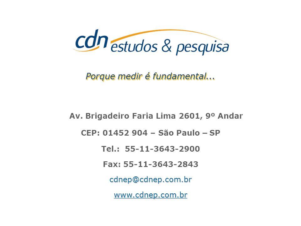 - Página 31 - Porque medir é fundamental... Av. Brigadeiro Faria Lima 2601, 9º Andar CEP: 01452 904 – São Paulo – SP Tel.: 55-11-3643-2900 Fax: 55-11-