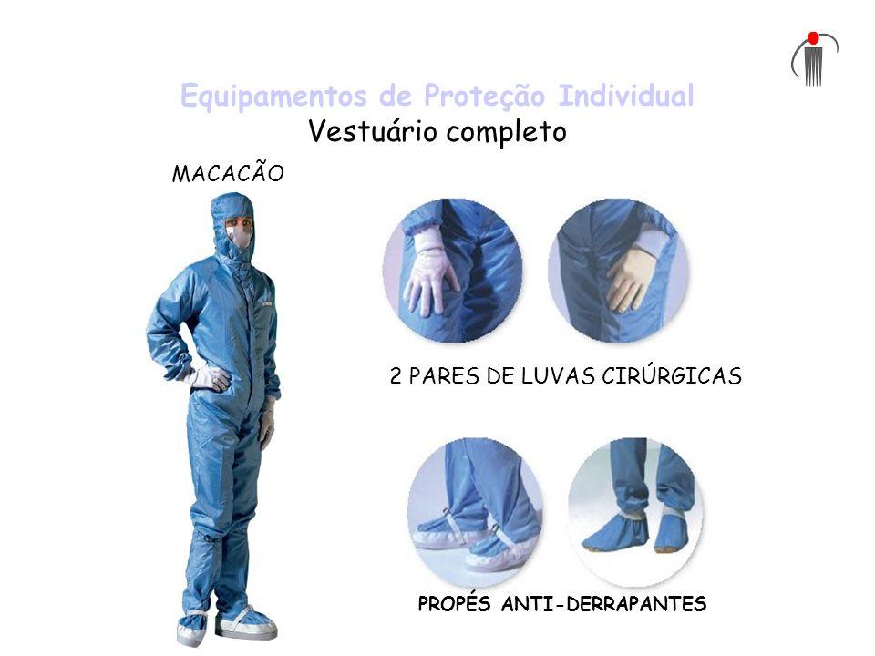 Equipamentos de Proteção Individual Vestuário completo 2 PARES DE LUVAS CIRÚRGICAS PROPÉS ANTI-DERRAPANTES MACACÃO