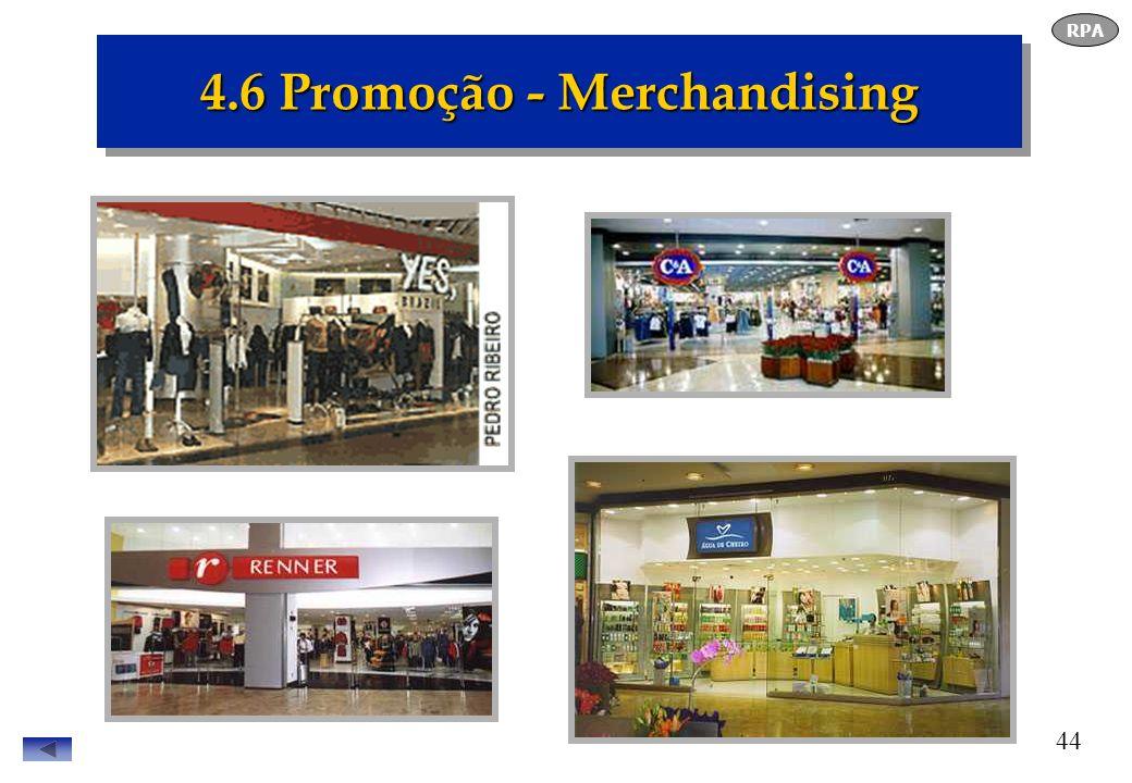 44 4.6 Promoção - Merchandising RPA