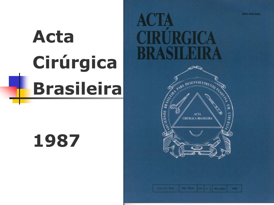 Acta Cirúrgica Brasileira 1997 SCIELO