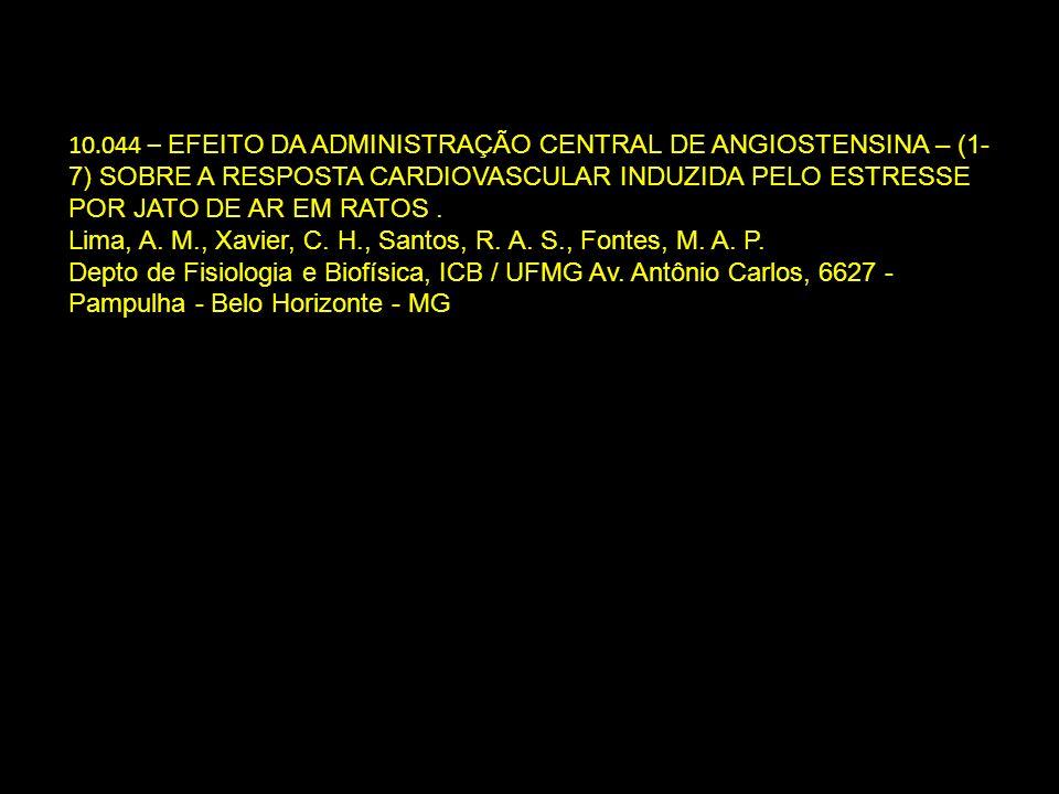 10.044 – EFEITO DA ADMINISTRAÇÃO CENTRAL DE ANGIOSTENSINA – (1- 7) SOBRE A RESPOSTA CARDIOVASCULAR INDUZIDA PELO ESTRESSE POR JATO DE AR EM RATOS. Lim