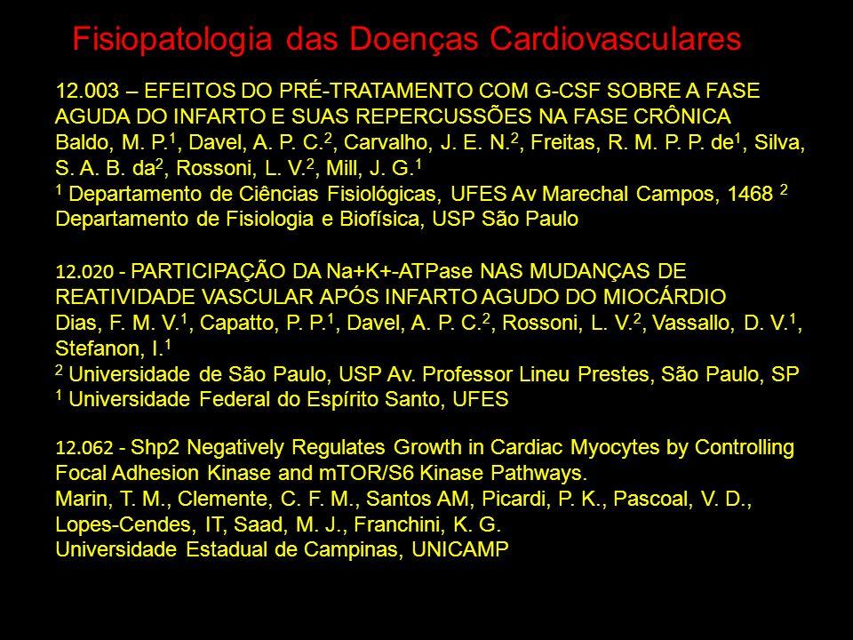 Fisiopatologia das Doenças Cardiovasculares 12.020 - PARTICIPAÇÃO DA Na+K+-ATPase NAS MUDANÇAS DE REATIVIDADE VASCULAR APÓS INFARTO AGUDO DO MIOCÁRDIO