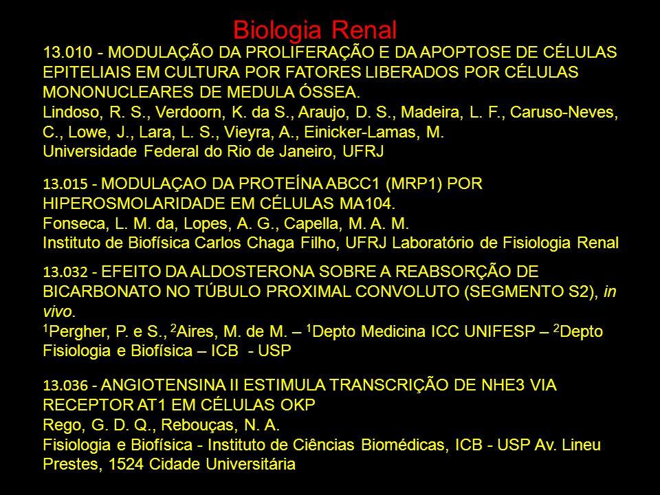 Biologia Renal 13.015 - MODULAÇAO DA PROTEÍNA ABCC1 (MRP1) POR HIPEROSMOLARIDADE EM CÉLULAS MA104. Fonseca, L. M. da, Lopes, A. G., Capella, M. A. M.