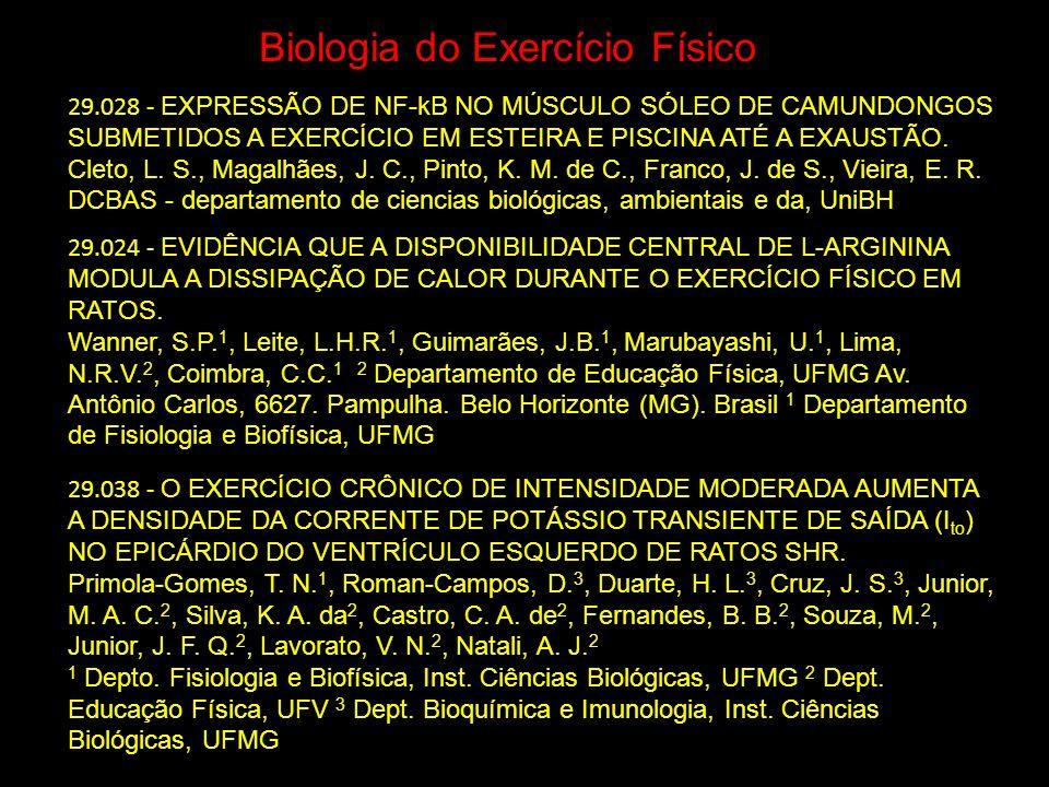 Biologia do Exercício Físico 29.028 - EXPRESSÃO DE NF-kB NO MÚSCULO SÓLEO DE CAMUNDONGOS SUBMETIDOS A EXERCÍCIO EM ESTEIRA E PISCINA ATÉ A EXAUSTÃO. C