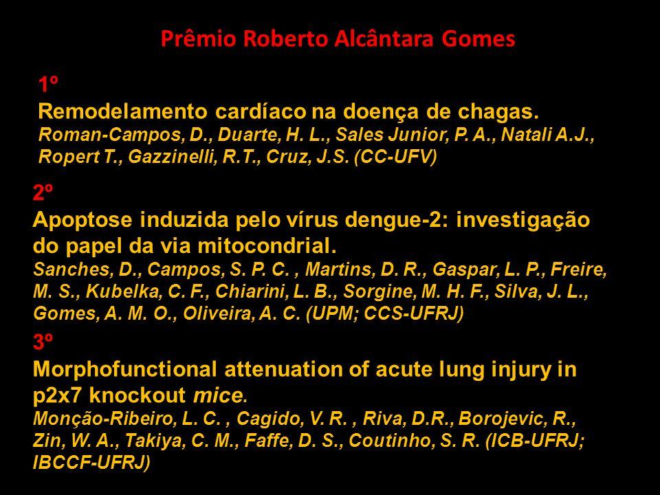 Prêmio Roberto Alcântara Gomes 1º Remodelamento cardíaco na doença de chagas. Roman-Campos, D., Duarte, H. L., Sales Junior, P. A., Natali A.J., Roper