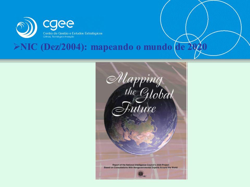 NIC (Dez/2004): mapeando o mundo de 2020