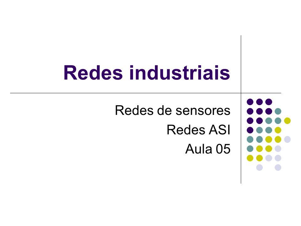 Redes industriais Redes de sensores Redes ASI Aula 05