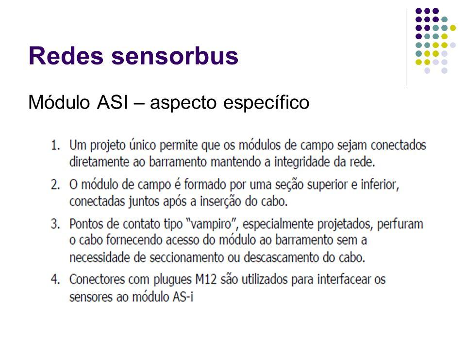 Redes sensorbus Módulo ASI – aspecto específico