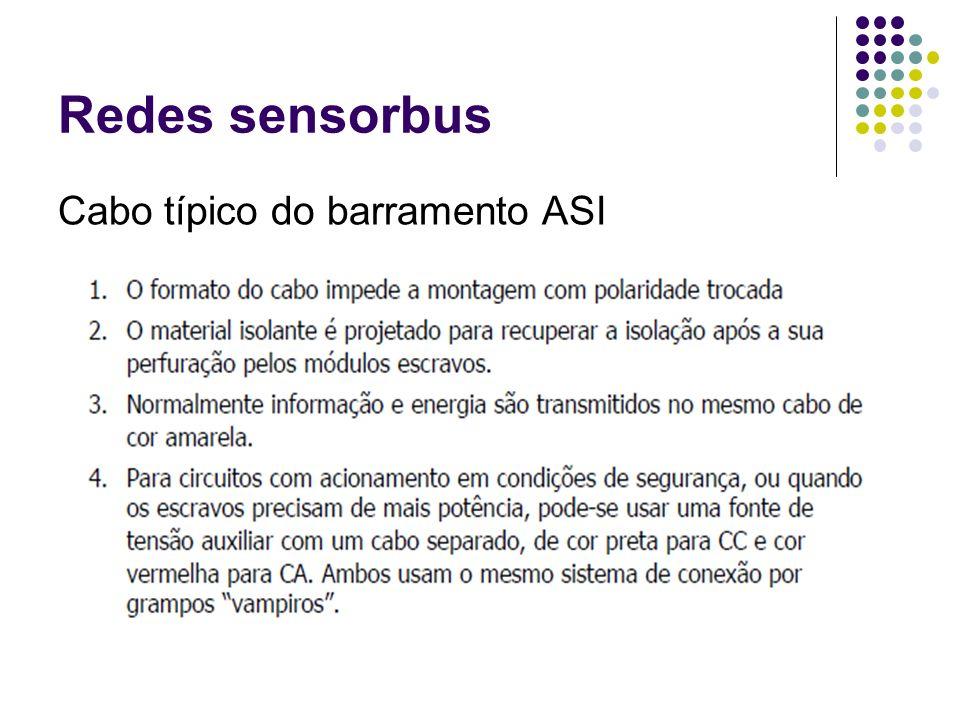 Redes sensorbus Cabo típico do barramento ASI