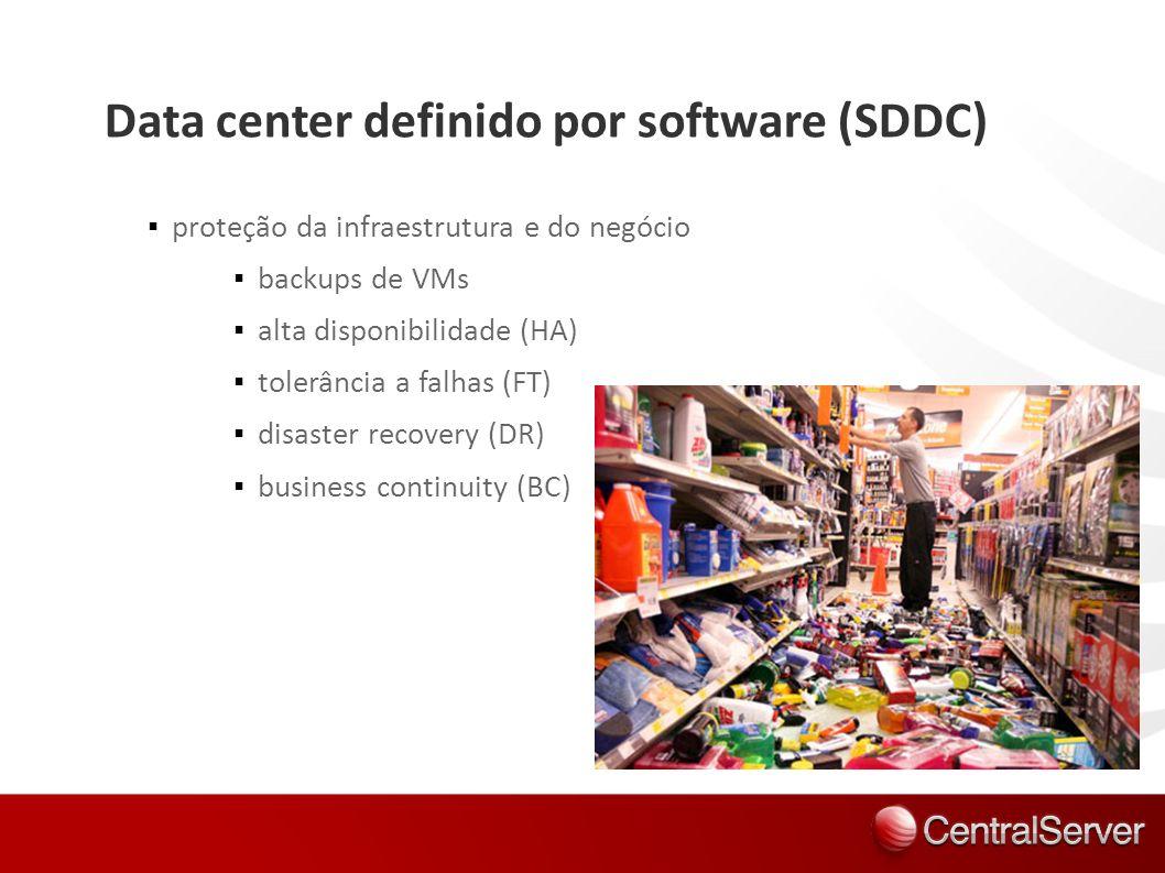 Data center definido por software (SDDC) proteção da infraestrutura e do negócio backups de VMs alta disponibilidade (HA) tolerância a falhas (FT) dis