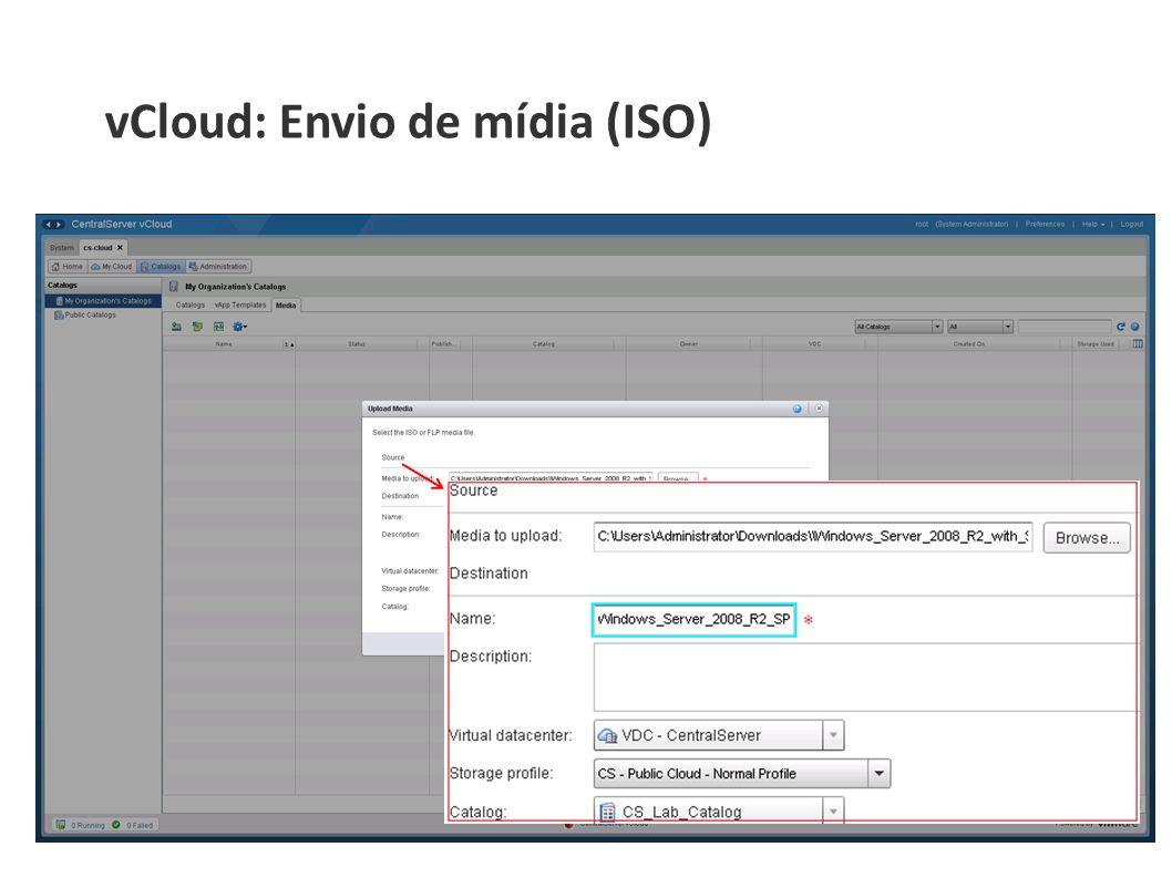 vCloud: Envio de mídia (ISO)