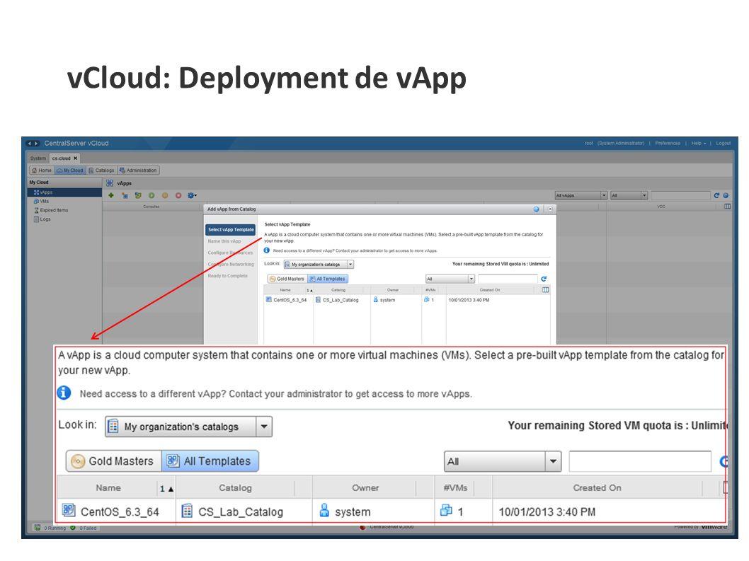 vCloud: Deployment de vApp