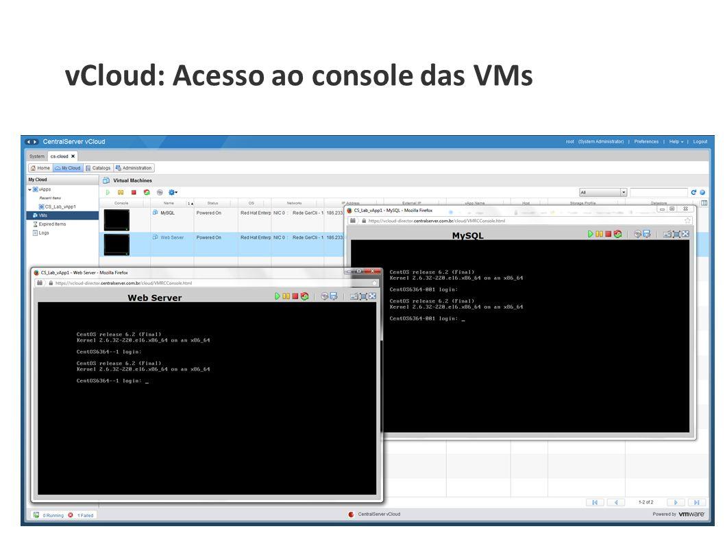 vCloud: Acesso ao console das VMs
