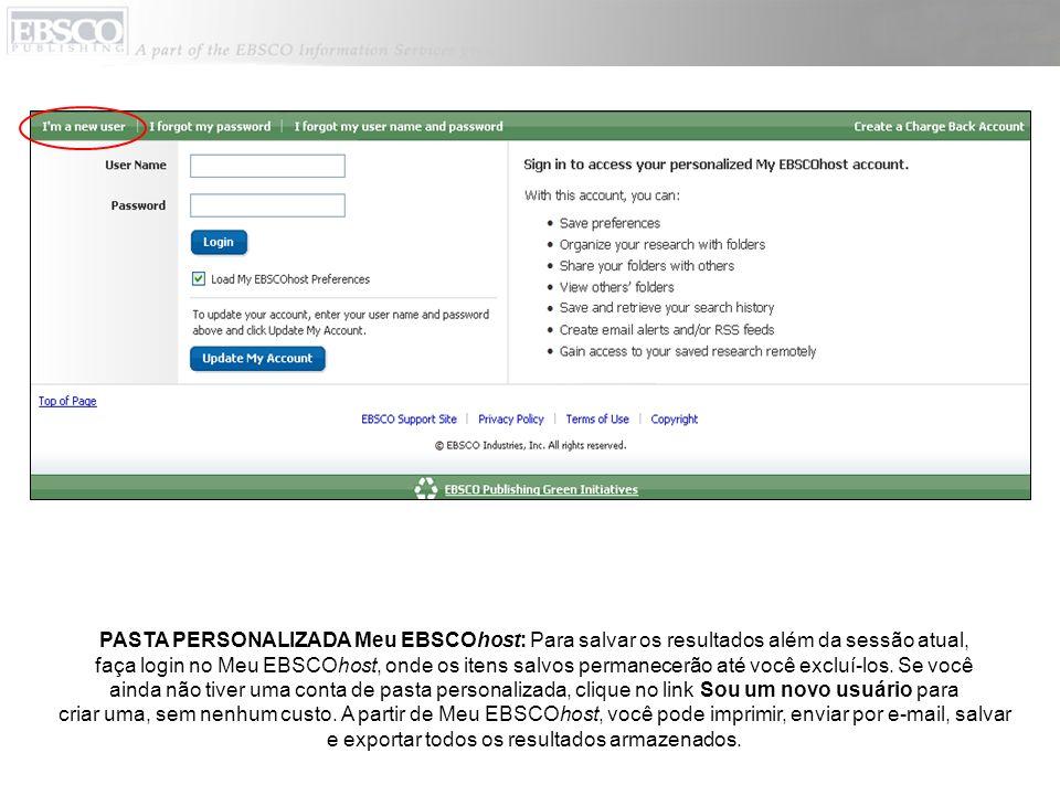 OPÇÕES DE HISTÓRICO DE PESQUISA/AVISOS: Clique no link Histórico de pesquisa/Avisos, abaixo do campo Localizar, para acessar as opções do Histórico de pesquisa.