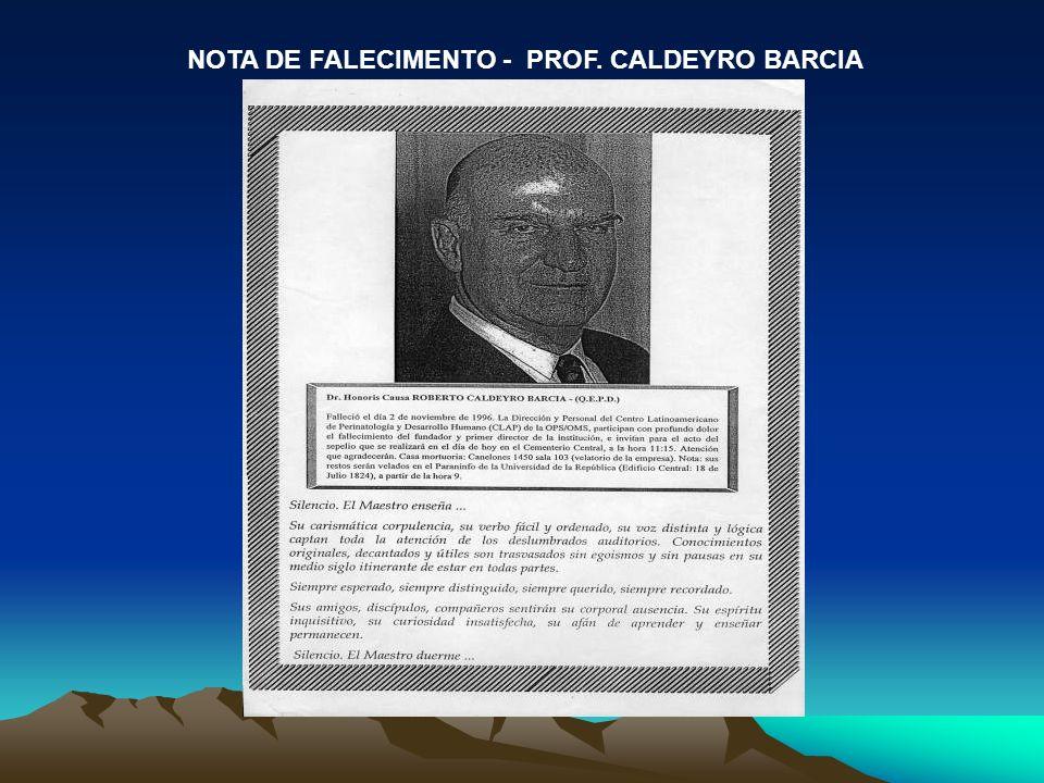 NOTA DE FALECIMENTO - PROF. CALDEYRO BARCIA