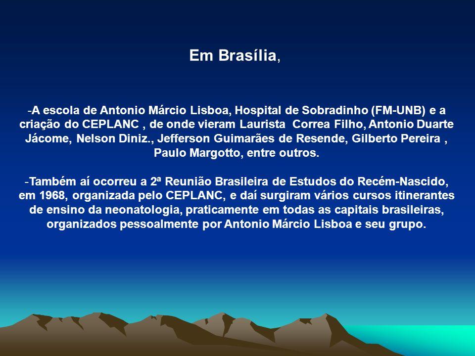 Em Brasília, -A escola de Antonio Márcio Lisboa, Hospital de Sobradinho (FM-UNB) e a criação do CEPLANC, de onde vieram Laurista Correa Filho, Antonio