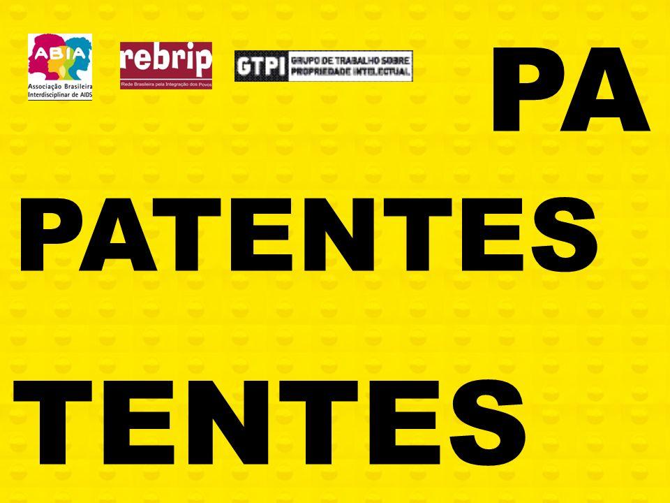 Sociedade Civil no Debate sobre Patentes e Acesso à Saúde Patentes Pipeline e Acesso a Medicamentos ABIA/CONECTAS/PRO BONO Renata Reis Associação Brasileira Interdisciplinar de AIDS (ABIA) Grupo de Trabalho em Propriedade Intelectual (GTPI) Rede Brasileira Pela Integração dos Povos (REBRIP)