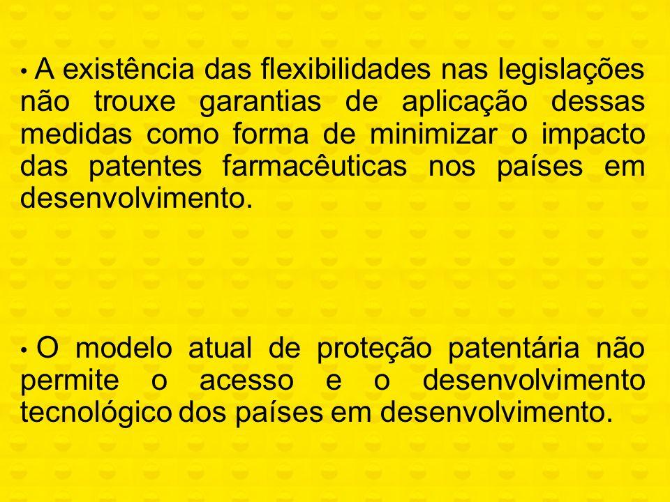 A existência das flexibilidades nas legislações não trouxe garantias de aplicação dessas medidas como forma de minimizar o impacto das patentes farmac