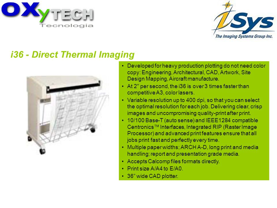 i36 - Direct Thermal Imaging Developed for heavy production plotting do not need color copy: Engineering, Architectural, CAD, Artwork, Site Design Map