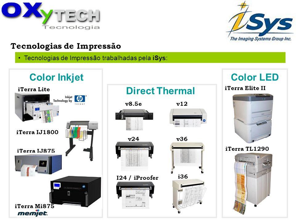Tecnologia de Impressão: Color Inkjet Printer Esta tecnologia usa Gota na Demanda ou Drop on Demand – DOD.