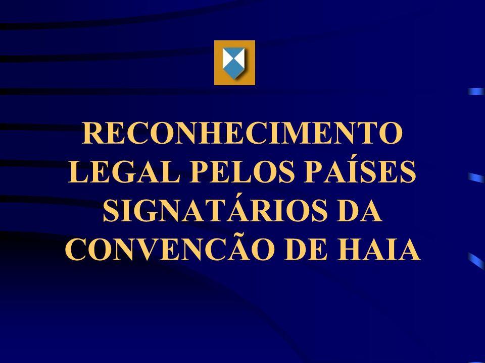 RECONHECIMENTO LEGAL PELOS PAÍSES SIGNATÁRIOS DA CONVENCÃO DE HAIA