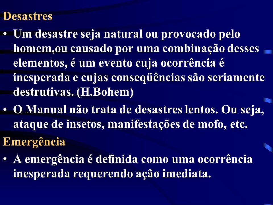 Desastres Um desastre seja natural ou provocado pelo homem,ou causado por uma combinação desses elementos, é um evento cuja ocorrência é inesperada e